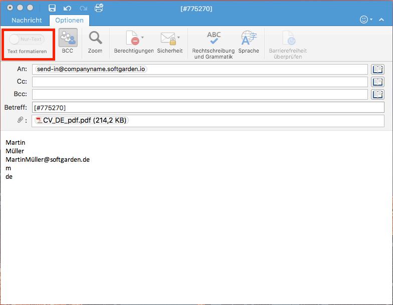 Bewerbungen Per E-Mail An Das System Schicken – Happy Customers