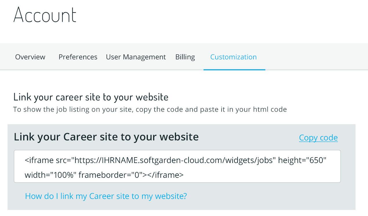 Link job site